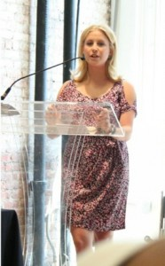 Samantha speaking at The International Fashion Blogger Conference