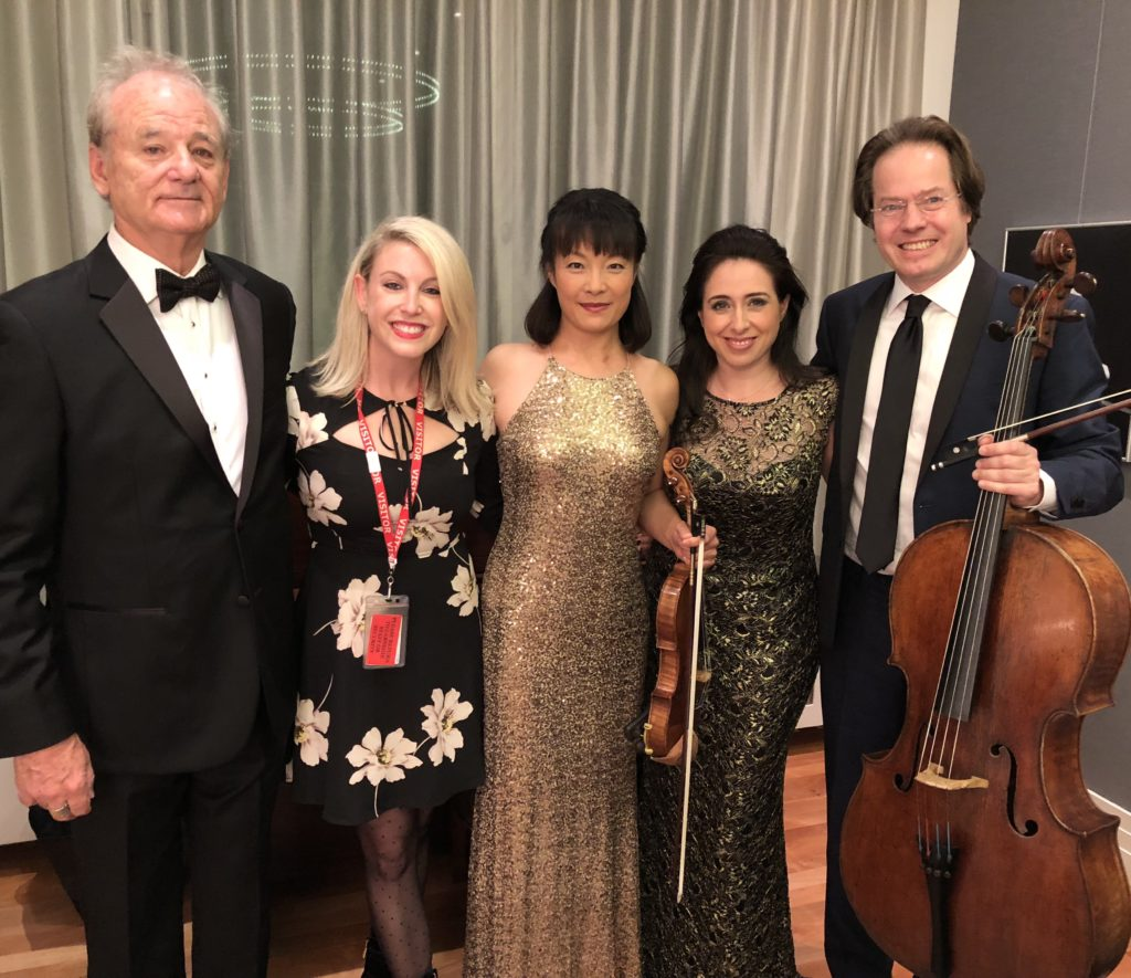 """Bill Murray, Jan Vogler and Friends, styled by Samantha for """"New Worlds"""" at Carnegie Hall"""