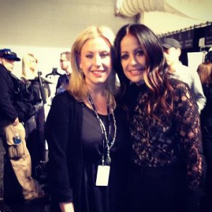 Samantha with designer, Jill Stuart
