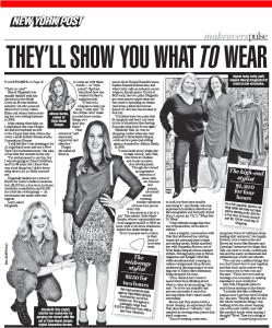 With a client in The NY Post