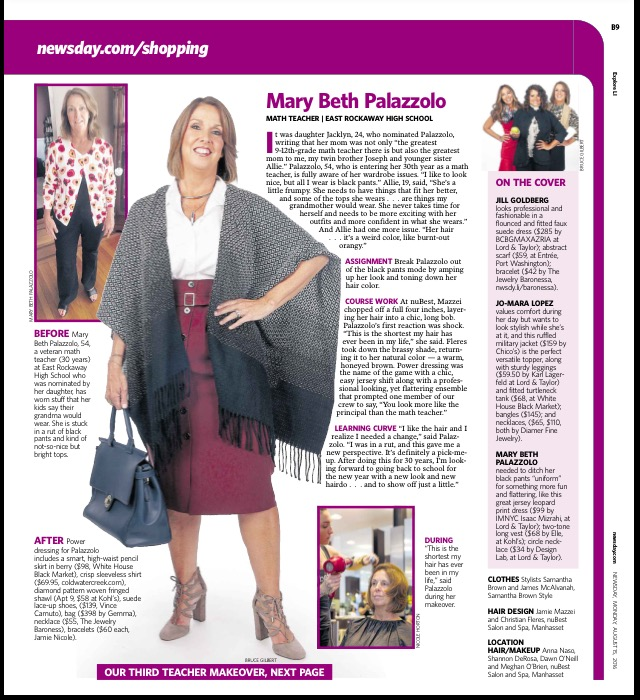 Newsday Teacher Makeovers styled by Samantha Brown